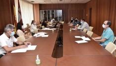 Una imagen de la reunión en la sede de la Junta en Soria. /Jta.