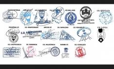 Firma de los presidentes y en su caso representantes de los clubes que militan en la Liga Provincial.