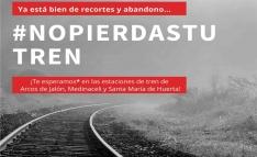 Vecinos del Alto Jalón  soriano se manifestarán el domingo en las estaciones de Renfe para defen