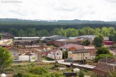 Actividad industrial en Tardelcuende. /María Ferrer