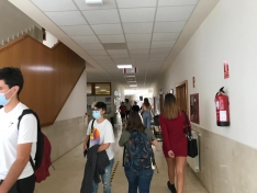 Los estudiantes vuelven al campus./ Fotos: Rocío Jiménez.