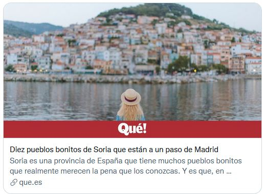 El surrealista artículo sobre los pueblos más bonitos de Soria… que no da ni una
