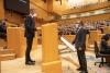 Luis Rey tomando posesión de su cargo como senador./ Foto: PSOE.