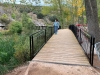 Ana Alegre en la nueva pasarela del Río Duero.