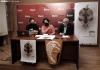 De Miguel (izda.), López y Bárez en la presentación hoy. /SN