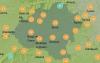 Mapa con las temperaturas previstas a las 12:00 horas de este miércoles. /AEMET