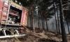 Un autobomba de la Diputación durante un incendio en el Moncayo este verano. /SN