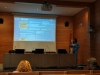 Marta Llorente defendiendo su tesis doctoral.