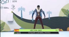 Fotos de Héctor Díez en la competición./ Fotos: Padres de Díez.