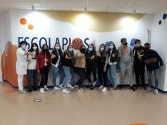 Una imagen de la jornada hoy en Escolapios. /CNSP