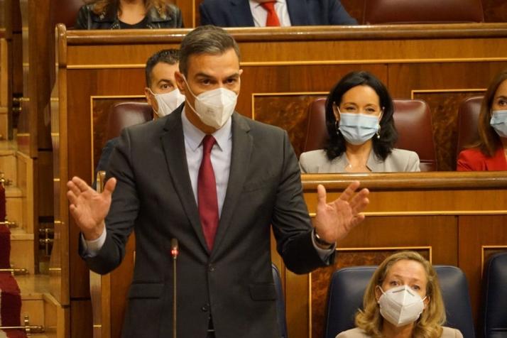 Pedro Sánchez, este mes en el Congreso de los Diputados.