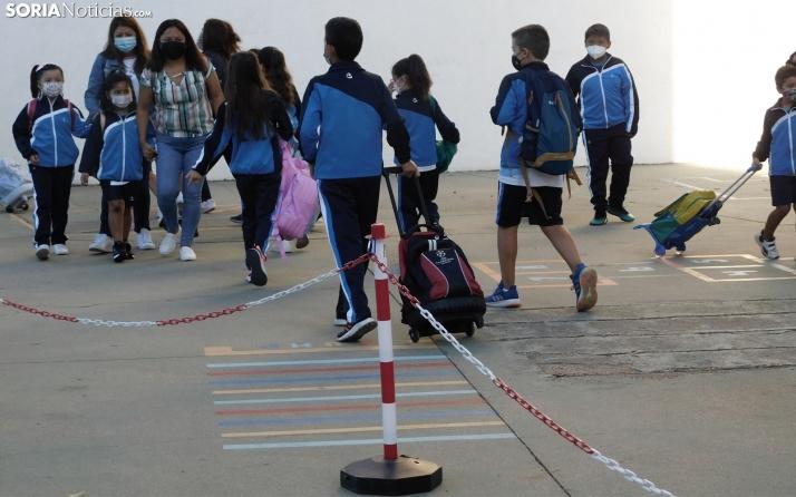 Flexibilizado el protocolo educativo, ya no será necesario zonificar los patios en Castilla y León